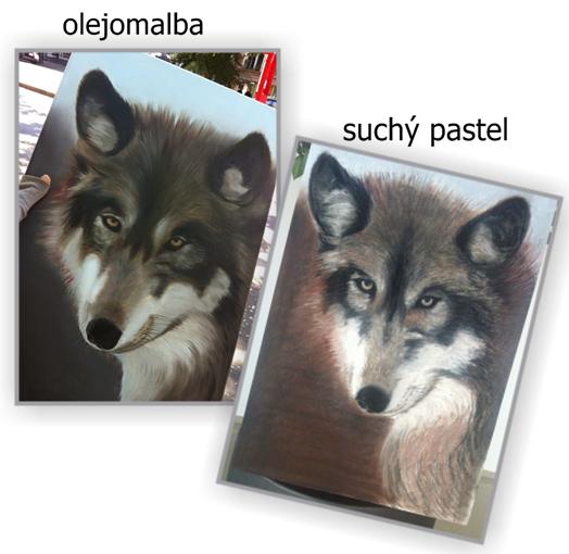 dvě zpracování vlka